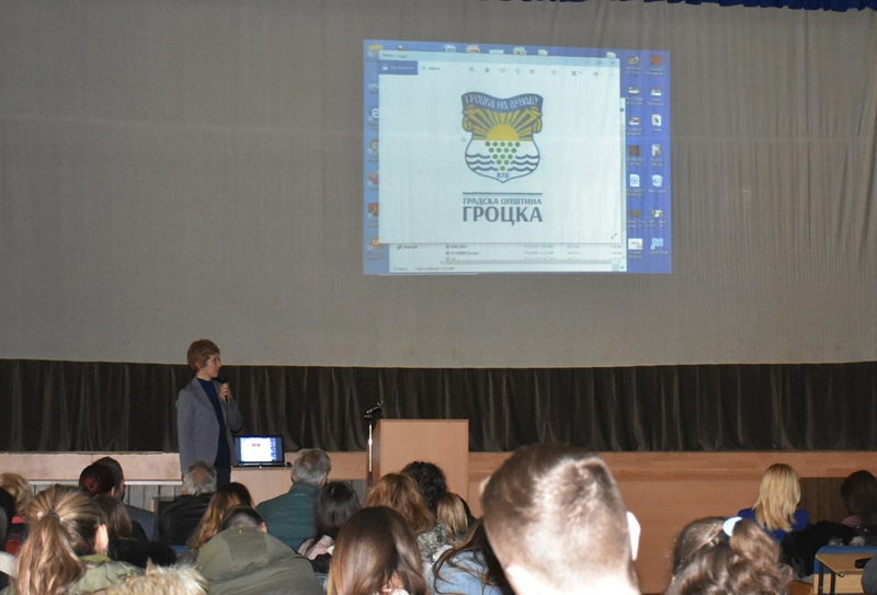 Гроцка на Високој туристичкој школи у Београду