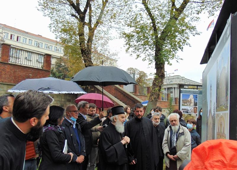Српске православне цркве у Београду представљене су изложбом у порти Вазнесењске цркве