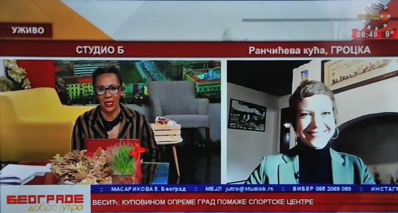 ТВ Студио Б: Видео-гостовање у знаку културне баштине